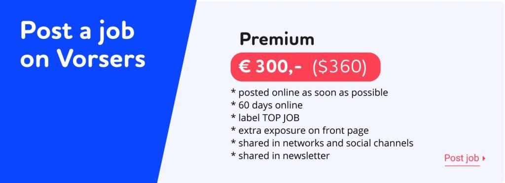 Post a vorsers job premium
