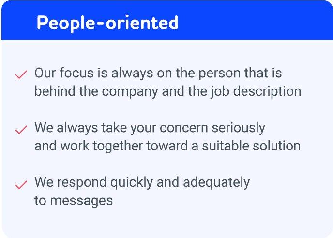 people-oriented Vorsers